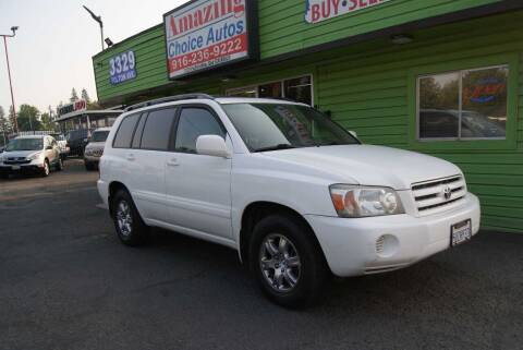2006 Toyota Highlander for sale at Amazing Choice Autos in Sacramento CA