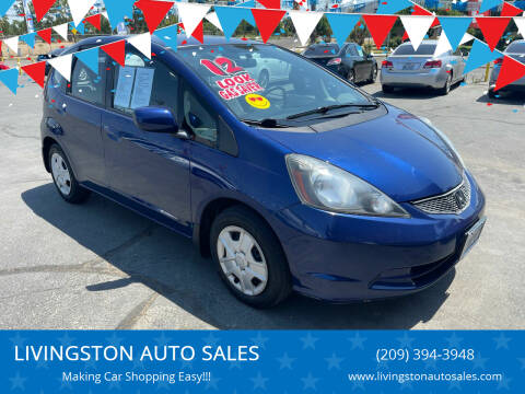 2012 Honda Fit for sale at LIVINGSTON AUTO SALES in Livingston CA