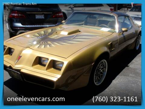1980 Pontiac Trans Am for sale at One Eleven Vintage Cars in Palm Springs CA