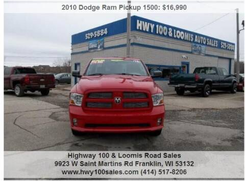 2010 Dodge Ram Pickup 1500 for sale at Highway 100 & Loomis Road Sales in Franklin WI