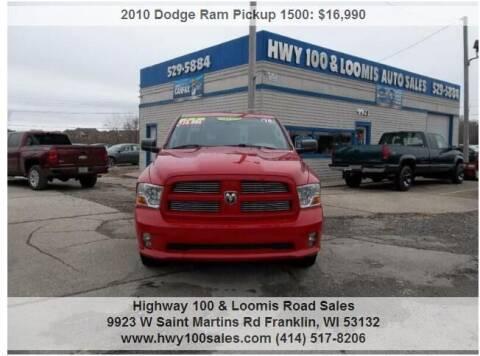 2010 Dodge Ram Pickup 1500 for sale at Highway 100 & Loomis Road Sales in Franklin WI