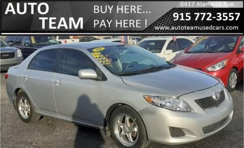 2009 Toyota Corolla for sale at AUTO TEAM in El Paso TX