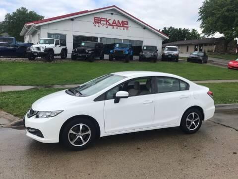 2015 Honda Civic for sale at Efkamp Auto Sales LLC in Des Moines IA