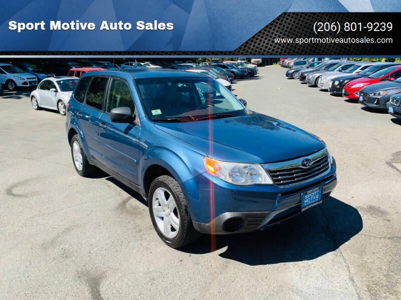 2009 Subaru Forester for sale at Sport Motive Auto Sales in Seattle WA