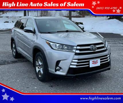 2017 Toyota Highlander for sale at High Line Auto Sales of Salem in Salem NH