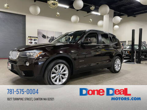 2015 BMW X3 for sale at DONE DEAL MOTORS in Canton MA