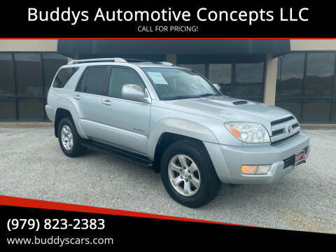 2004 Toyota 4Runner for sale at Buddys Automotive Concepts LLC in Bryan TX