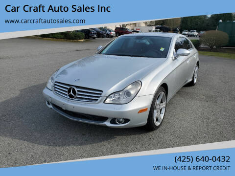 2007 Mercedes-Benz CLS for sale at Car Craft Auto Sales Inc in Lynnwood WA