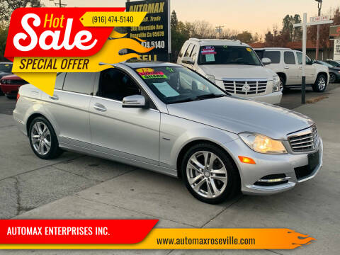 2012 Mercedes-Benz C-Class for sale at AUTOMAX ENTERPRISES INC. in Roseville CA