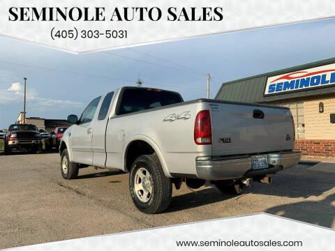 2000 Ford F-150 for sale at Seminole Auto Sales in Seminole OK