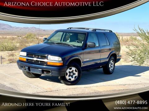 2004 Chevrolet Blazer for sale at Arizona Choice Automotive LLC in Mesa AZ