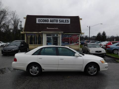 2004 Toyota Avalon for sale at Econo Auto Sales Inc in Raleigh NC