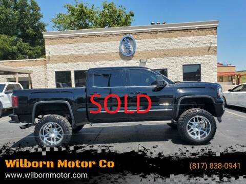 2018 GMC Sierra 1500 for sale at Wilborn Motor Co in Fort Worth TX