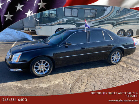 2010 Cadillac DTS for sale at Motor City Direct Auto Sales & Service in Pontiac MI