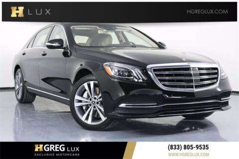 2018 Mercedes-Benz S-Class for sale at HGREG LUX EXCLUSIVE MOTORCARS in Pompano Beach FL