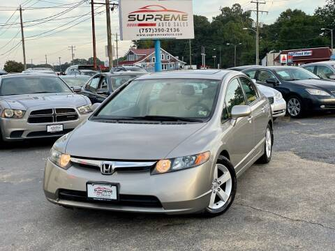 2006 Honda Civic for sale at Supreme Auto Sales in Chesapeake VA
