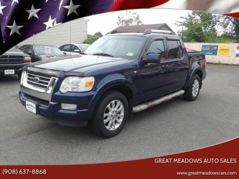 2007 Ford Explorer Sport Trac for sale at GREAT MEADOWS AUTO SALES in Great Meadows NJ