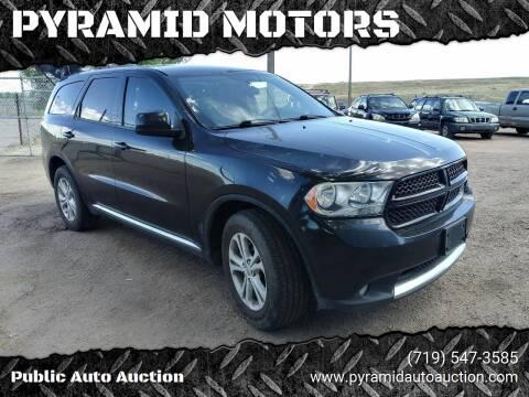 2013 Dodge Durango for sale at PYRAMID MOTORS - Pueblo Lot in Pueblo CO