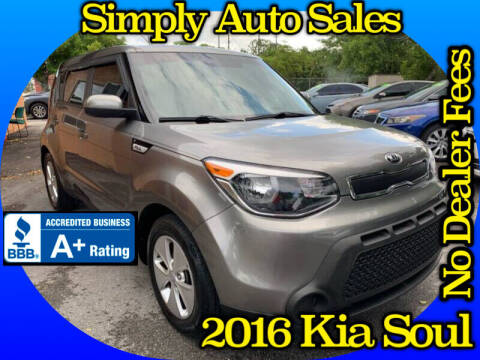2016 Kia Soul for sale at Simply Auto Sales in Palm Beach Gardens FL
