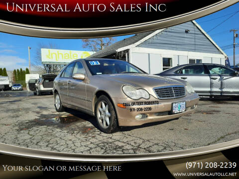 2003 Mercedes-Benz C-Class for sale at Universal Auto Sales Inc in Salem OR