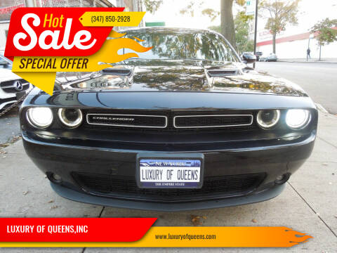 2016 Dodge Challenger for sale at LUXURY OF QUEENS,INC in Long Island City NY
