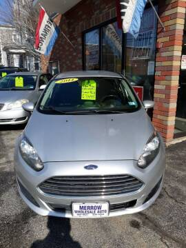2014 Ford Fiesta for sale at MERROW WHOLESALE AUTO in Manchester NH