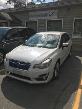 2015 Subaru Impreza for sale at P & M AUTO in Springfield VT