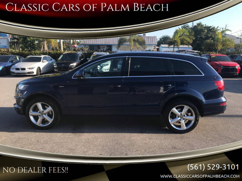 2013 Audi Q7 for sale at Classic Cars of Palm Beach in Jupiter FL