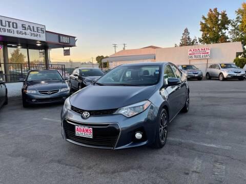 2015 Toyota Corolla for sale at Adams Auto Sales in Sacramento CA