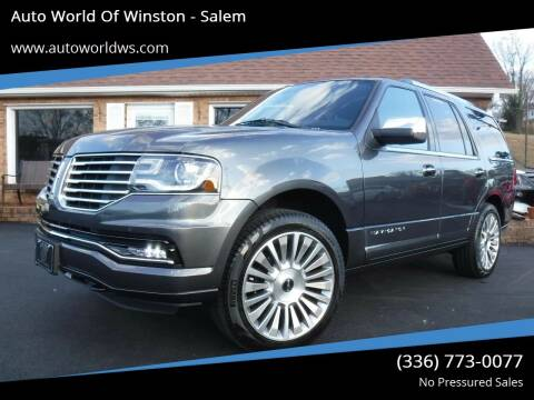 2015 Lincoln Navigator for sale at Auto World Of Winston - Salem in Winston Salem NC