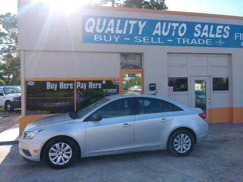2011 Chevrolet Cruze for sale at QUALITY AUTO SALES OF FLORIDA in New Port Richey FL