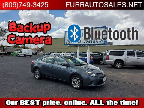 2016 Toyota Corolla for sale at FURR AUTO SALES in Lubbock TX