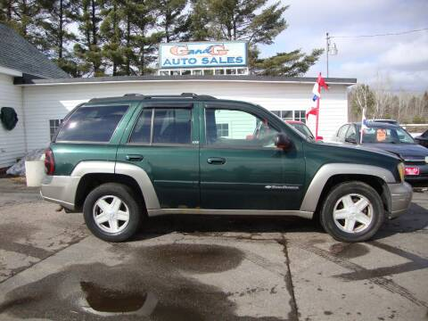 2002 Chevrolet TrailBlazer for sale at G and G AUTO SALES in Merrill WI