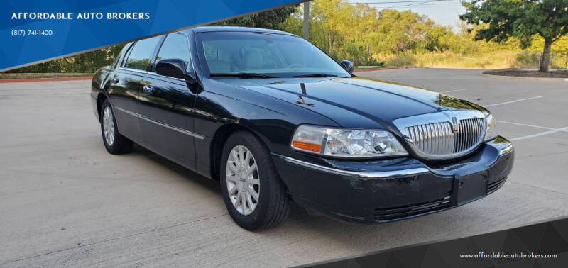2007 Lincoln Town Car for sale at AFFORDABLE AUTO BROKERS in Keller TX