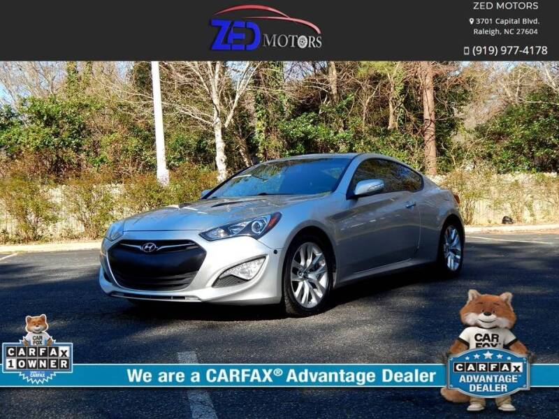 2013 Hyundai Genesis Coupe for sale at Zed Motors in Raleigh NC