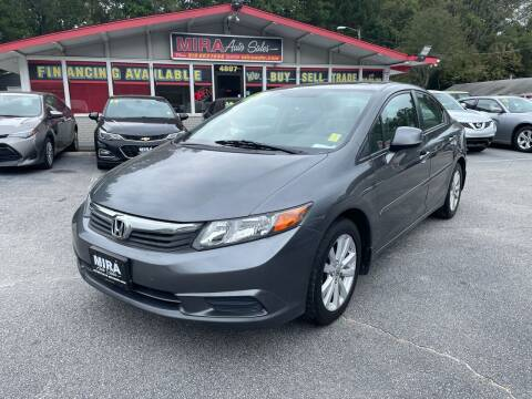 2012 Honda Civic for sale at Mira Auto Sales in Raleigh NC