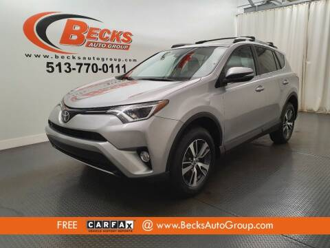 2018 Toyota RAV4 for sale at Becks Auto Group in Mason OH