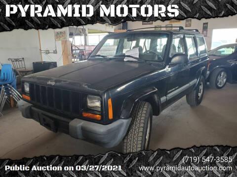 2001 Jeep Cherokee for sale at PYRAMID MOTORS - Pueblo Lot in Pueblo CO