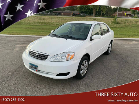 2008 Toyota Corolla for sale at Three Sixty Auto in Elysian MN