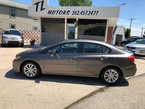 2012 Honda Civic for sale at TL Motors LLC in Hartford WI