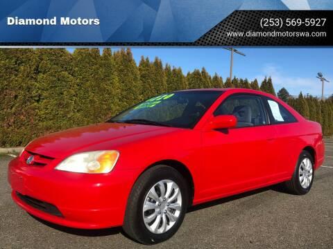 2002 Honda Civic for sale at Diamond Motors in Lakewood WA