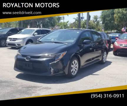 2021 Toyota Corolla for sale at ROYALTON MOTORS in Plantation FL