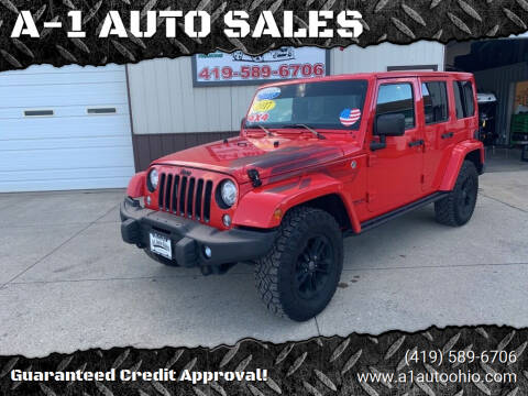 2017 Jeep Wrangler Unlimited for sale at A-1 AUTO SALES in Mansfield OH