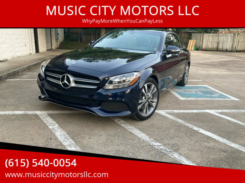 2018 Mercedes-Benz C-Class for sale at MUSIC CITY MOTORS LLC in Nashville TN