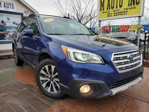 2015 Subaru Outback for sale at M AUTO, INC in Millcreek UT