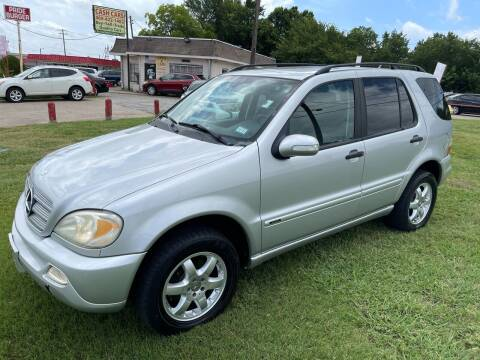 2003 Mercedes-Benz M-Class for sale at Texas Select Autos LLC in Mckinney TX