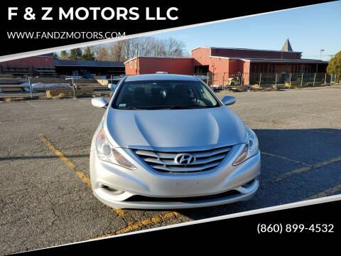2012 Hyundai Sonata for sale at F & Z MOTORS LLC in Waterbury CT