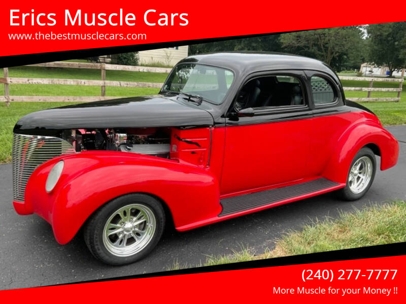 1939 Chevrolet Master Deluxe for sale at Erics Muscle Cars in Clarksburg MD