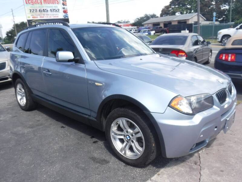 2006 BMW X3 for sale at LEGACY MOTORS INC in New Port Richey FL