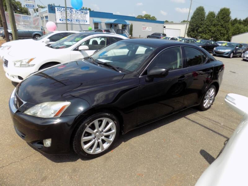 2008 Lexus IS 250 for sale at Pro-Motion Motor Co in Lincolnton NC